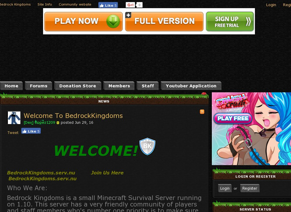 Bedrock Kingdoms Best Minecraft Servers Top Minecraft Server List